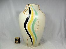 Beautiful handpainted 50´s design Schlossberg Keramik pottery vase 576/30  31 cm