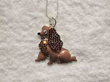 DISNEY LADY & THE TRAMP MOVIE Inspired Large Charm NECKLACE Cocker Spaniel Dog