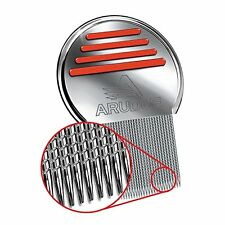 Arudge Lice Comb - Professional Stainless Steel Comb for Head Lice Treatment