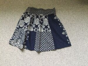 New Without Tags Navy Print Skirt By Fatface UK Size10