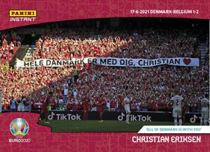 EURO 2020 Panini Instant #18 Christian Eriksen All Denmark With You UEFA PRESALE