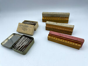 Vintage Watchmakers Lot of Jewelers Pivot Drills & Drill Bits CE Marshall Mascot