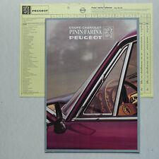 Prospekt Peugeot 504 Cabriolet TI /  Coupé TI, V6 TI, 1982, 16 Seiten + Preise