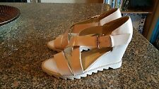 NEW   Bella Belle  Patent Strap Wedge Sandals    Size 8   NWOB