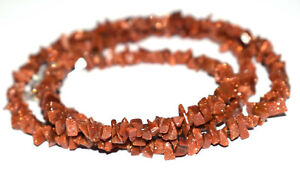 """925 Fine Silver 20"""" Strand Necklace Red Sunstone Gemstone Uncut 4-6mm Beads JH59"""