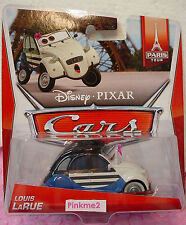 2014 PIXAR Cars LOUIS LaRUE mime✿Blue/White;Pink Citroën CV2✿6/7 PARIS TOUR☆1/55