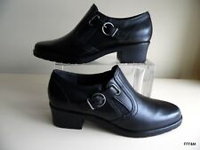 Walking Cradles Women's Ankle Boots Black Leather Size 6.5 Narrow New w/out Box