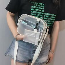 Women Girl PVC Jelly Clear Mini Shoulder Crossbody Bag Messenger Handbag Satchel