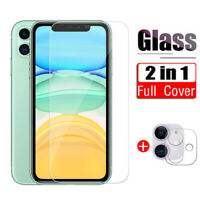 Protector pantalla de vidrio templado Ccámara para iPhone 11 12 Pro Max XS XR 8