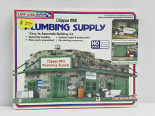 "LIFE-LIKE HO U/A ""CLIPPER MILL PLUMBING SUPPLY"" PLASTIC MODEL KIT #1357"