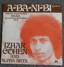 Izhar Cohen and Alpha Beta, A-BA-NI-BI  - eurovision 1978 , SP - 45 tours