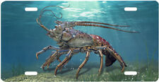 Lobster Blue Water Auto License Plate Fishing Diving Lobster Deep Sea Creature