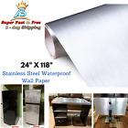 Metal Texture Peel Stick Stainless Steel Wall Paper Appliances Fridge Vinyl Film photo