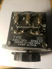 Staco Type 501 Variac Variable Transformer  Input 120V  Output 0-140V .5A 0.7kVA