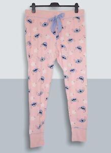 Disney Stitch Coral Pyjama Bottoms / Trousers Size L (UK 14/16) NEW
