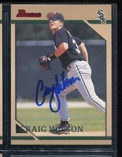 Craig Wilson Chicago White Sox 1996 Bowman auto autographed signed card
