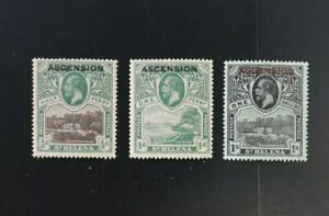1922 ASCENSION ISLAND KGV Mint Hinged Stamps SET