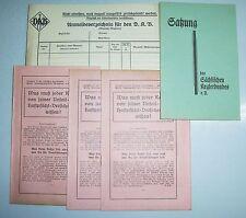 Dokumente Sächsischer Kegelbund Satzung Versicherung & Dokument um 1928 ! (D1