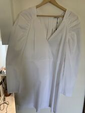 Zara White Dress BNWT size Large Big Sleeves