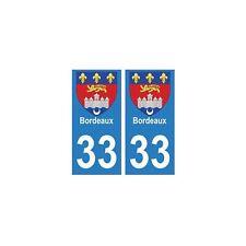33 Bordeaux autocollant plaque blason armoiries stickers département droits