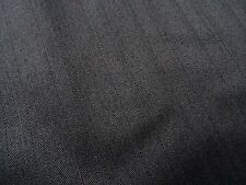 Black Striped Herringbone Fabric Material Formal Cotton Stretch Textile Craft