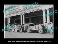 OLD 8x6 HISTORIC PHOTO OF ALOHA WANDERWELL AROUND WORLD TOUR IN CALCUTTA 1924