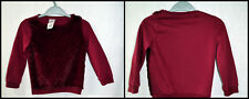 E-VIE ANGEL girl 4 years wine colour sweater top  Made in China long sleeve crew