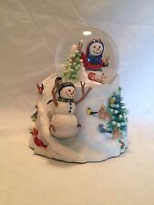 Lenox Lynn Bywaters Sledding Party Snow Globe Figurine - Nos ~ See Pictures
