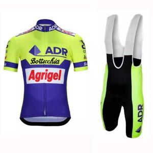 1989 Retro ADR Agrigel Bottecchia Cycling Jerseys and Bib Short Cycling Kit