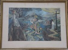 Edy LEGRAND - Estampe reproduction scène mythologique c.1960