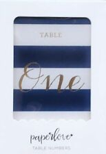 Table Numbers by Paper Love Navy and White 24 Folded Cards Wedding Shower Baby