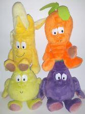 4 VITAMINI MELANZANA PERA BANANA CAROTA PELUCHE Fruit goodness gang plush