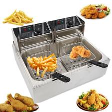 5000w 12l Stainsteel Electric Deep Fryer Single Tank Commercial Restaurant Us