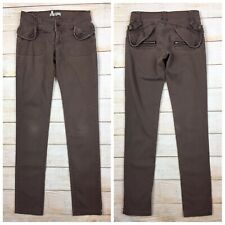 BCBGeneration BCBG Brown Cotton Skinny Utility Pants Womens Sz 0