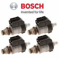 Mercedes W203 W216 C250 CL550 Set of 4 Black Cap AT Solenoid Valves Bosch OEM