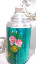 Termoskanne BUNT mit Korkenverschluss, 26 x 11 cm , Silber-grün, 0,5 Liter