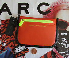Marc By Marc Jacobs Coin Bag Pouch Luna Tarp TPU Orange Glow NEW $78 retail