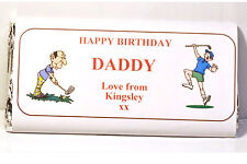 100g Chocolate bar with personalised wrapper for all occasions