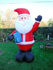 New Christmas 10' Santa with Present Inflatable Airblown Yard Decoration LightUp