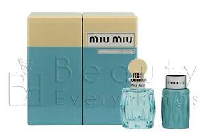 Miu Miu L'Eau Bleue 2PC Gift Set by Miu Miu 3.4oz EDP +3.4oz B/L NIB For Women
