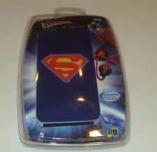 iHip Superman iPhone 5 Cover Earbuds Case Head Phones Bundle Logo DC Comics BNIB