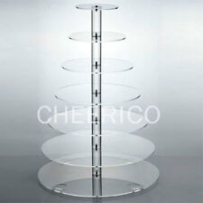 7 Tier Large Maypole Wedding Acrylic Cupcake Stand Tree Tower Cup Cake Display.