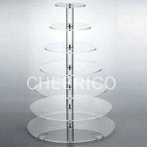 7 Tier Maypole Acrylic Cupcake Stand Cup Cake Tower Tree
