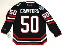 COREY CRAWFORD CHICAGO BLACKHAWKS NHL STADIUM SERIES REEBOK PREMIER JERSEY