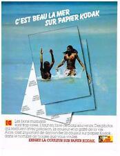 PUBLICITE  1980     KODAK   la couleur sur papier