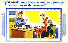i am afraid your husband is not in the position to see you at present . h.b. ltd