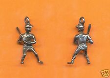 20 wholesale pewter baseball player charms 1087
