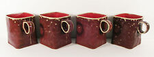 REDUCED PRICE---Ceramic Coffee cups-brown/square/great gift