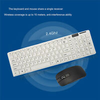 New Slim 2.4GHz Cordless Wireless Keyboard and Mouse Set For PC Desktop Laptop