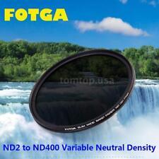 Fotga 72mm Slim Fader Adjustable Neutral Density Filter .ND2-400 for Nikon A5H1